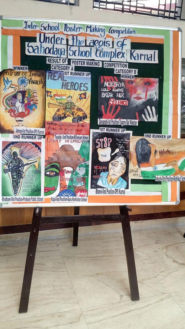 Poster Making Competition – Sahodaya Schools Complex – Karnal